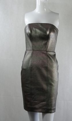 Strapless Pewter dress - Size: 6