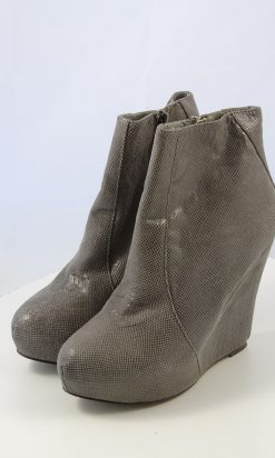 Nude Grey Ankle Boot 37