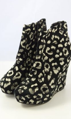 Nude Animal Print Ankle Boot 38