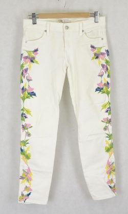 7 For All Mankind White Jeans 27