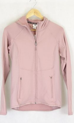 H And M Dusty Pink Hooded Activewear Jacket S