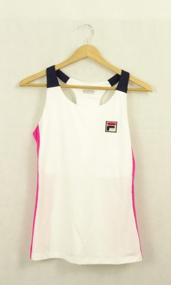 Fila White And Pink Sports Top M/12