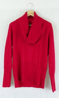 Marco Polo Red Turtle Neck Jumper Xl