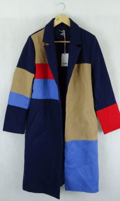 Shein navy and brown coat M