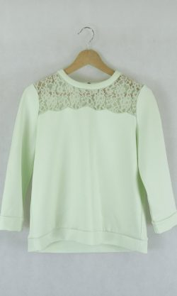 Ted baker green lace jumper 2