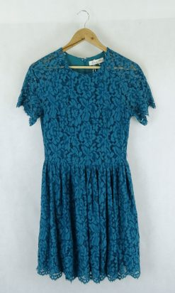Alannah Hill Turquoise Lace Dress 12