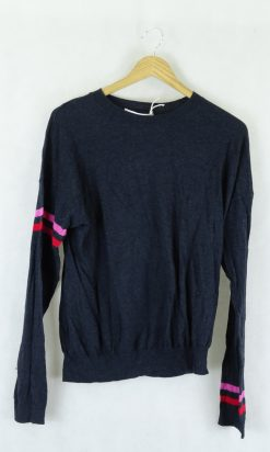Skin and Threads Navy Knit Top