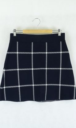 French Connection Navy and White Skirt 21