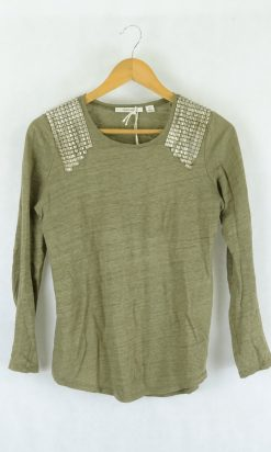 Country Road Brown Top XXS