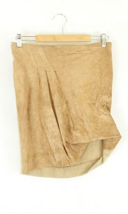 Lucette Brown Suede Skirt 1