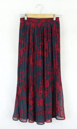 Museum Blue And Red Floral Pants M