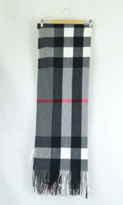 Check Scarf With Tassels