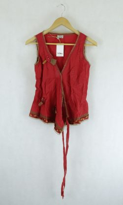 Jigsaw Red Blouse 10