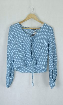 Glassons Blue Wrap Top 6