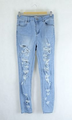 Miss Shop Blue Ripped Jeans 10