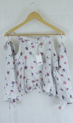 Seed Heritage Wrap Around Top Floral And Stripe 6