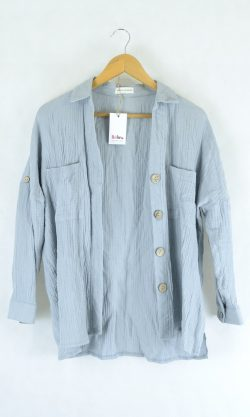Sassy Hill Fashion Blue Button Up Top 6