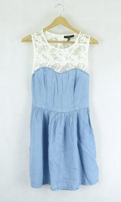 Forever New Blue Chambray Dress 10